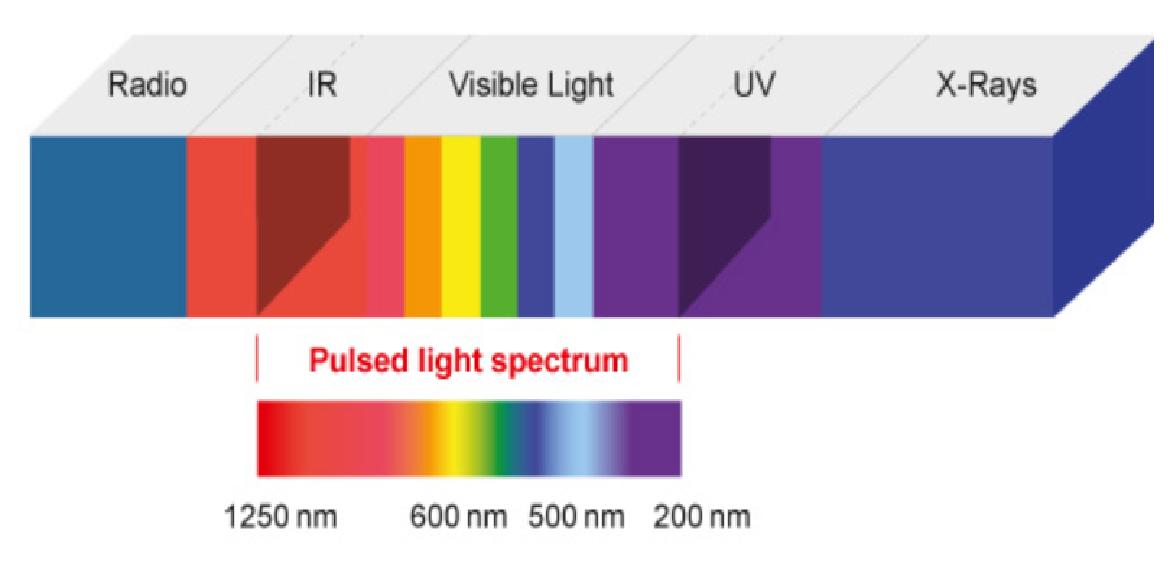 pulsed light spectrum